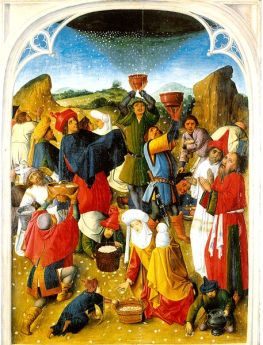 Gathering of the Manna (artist's name unknown).Photo Credit: Wikimedia Commons.