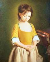 Penitent Girl by Pietro Rotari. (Wikimedia Commons).