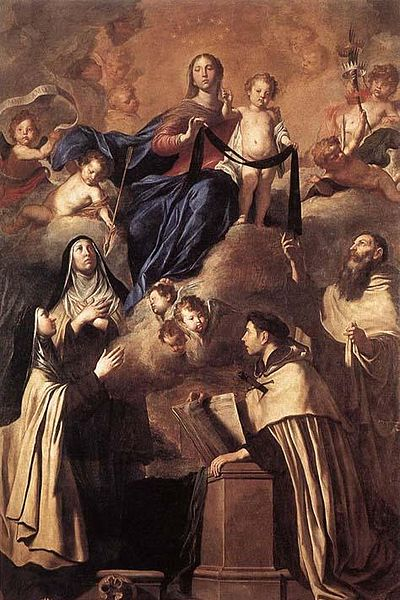 Our Lady of Mt. Carmel and Saints by Pietro Novelli. Photo Credit: Wikipedia.