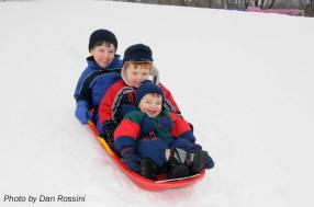 D, M, and C go sledding. Boys can be masculine without being crude, irreverent, or immodest.